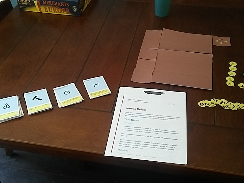 Game Chef 2016 Playtesting Sands Robot
